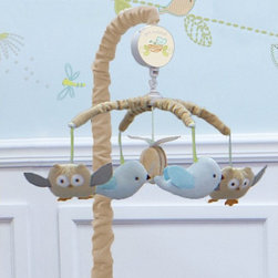 Nurture - Nurture Nest Mobile Multicolor - 108210 - Shop for Mobiles from Hayneedle.com! Birds owls and a single bee float gently above baby in the enchanting Nurture Nest Mobile. Armature and mobile arms are covered in soft tan velour while the wind up music box plays Brahms Lullaby gently lulling your baby to sleep.About Nurture ImaginationBased in California Nurture Imagination creates collaborative relationships with artists designer and product innovators to bring a diverse mix of imaginative products to parents and children. This thoughtfully chosen array of products and features can be seen in their many nursery collections or just in the way they approach the needs of children and the parents who never tire of caring for them.