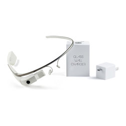 Wiplabs Designs LLC - Google Glass Wall Charger - The Glass Wall Charger is the simplest yet most essential Google Glass charger available. Just plug it into a wall outlet where you can conveniently dock and charge your Glass cable free. It will keep your device off tables and countertops and remove the need for wires. All while matching beautifully with the design and look of Google Glass. *Does not included Google Glass