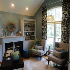 Eclectic Home Office by Erika Bonnell Interiors