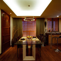 asian dining room by Genco Berk Design