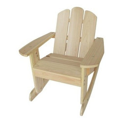 Kids Rocking Chair - Natural - Kids like to rock, too. Give your little one a place to rock with the Kids Rocking Chair - Natural. This durable chair is crafted from sustainably grown fir wood that's insect- and rot-resistant. The included instructions and wrench make assembly a breeze.