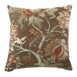 D.V. KAP Home - Tree of Life Brown 24 x 24 Decorative Pillow - -24x24 zippered removable cover  -Comes with Feather/Down insert  -Spot or dry clean D.V. KAP Home - 2042-B