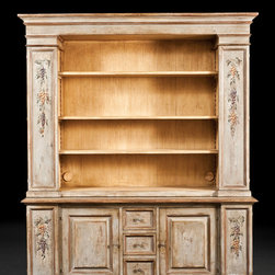 PM-4028 Hand Painted Library / TV Cabinet -