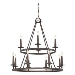 Quoizel - Quoizel VYR5012 Voyager 12 Light 2 Tier Candle Style Chandelier - Features: