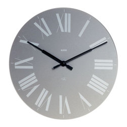 """Alessi - Alessi """"Firenze"""" Clock, Grey - This is a quartz movement wall clock made of ABS."""