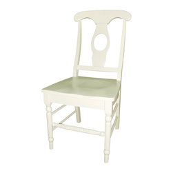 International Concepts - International Concepts Empire Wood Chair in Linen White (set of 2) - International Concepts - Dining Chairs - C311202P