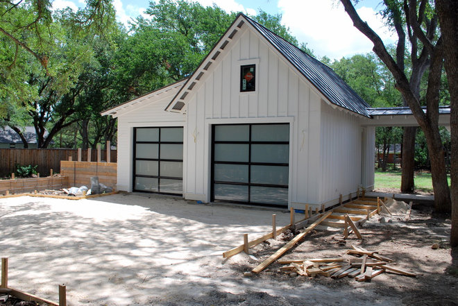 Modern Garage And Shed by Cowart Door Systems