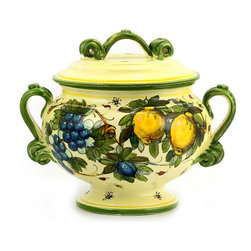 Artistica - Hand Made in Italy - Frutta Fondo Miele: Footed Cup with Lid - Frutta Fondo Miele: