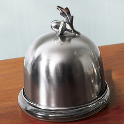 Acorn Domed Butter Dish from Monticello - This antique nickel butter dish is a functional item that will add traditional Monticello style to any table. The little acorn makes it perfect for autumn and winter table settings.