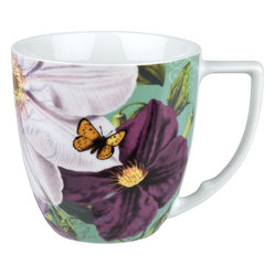 Impressions Set of 4 Mugs Impressions Clematis in White