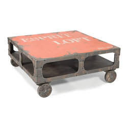 Moe's Home Collection - Loft Coffee Table Orange - Colourful Coffee table with Storage