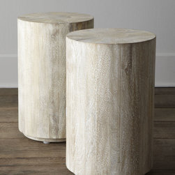 Horchow - Driftwood Side Table - These are round and durable for the kiddos but soft, moody and rustic for the adults. I see them used in a home that is filled with (washable!) whites galore.