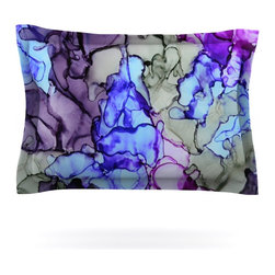 "Kess InHouse - Claire Day ""String Theory"" Pillow Sham (Cotton, 30"" x 20"") - Pairing your already chic duvet cover with playful pillow shams is the perfect way to tie your bedroom together. There are endless possibilities to feed your artistic palette with these imaginative pillow shams. It will looks so elegant you won't want ruin the masterpiece you have created when you go to bed. Not only are these pillow shams nice to look at they are also made from a high quality cotton blend. They are so soft that they will elevate your sleep up to level that is beyond Cloud 9. We always print our goods with the highest quality printing process in order to maintain the integrity of the art that you are adeptly displaying. This means that you won't have to worry about your art fading or your sham loosing it's freshness."