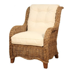 NPD (New Pacific Direct) Furniture - Palm Spring Rattan Armchair by NPD Furniture, Natural Gray - Sit back and relax in the comfort of this armchair as it provides stylish utility. As this armchair combines trendy aesthetics and dependable function, it blossoms into a fashionable piece. Combine your personality with this armchair's brilliant design for a piece that is uniquely and truly you.