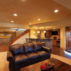 Traditional Basement by Finished Basements & More