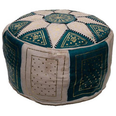 mediterranean ottomans and cubes by MoraCo Imports