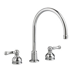 American Standard 7230.000 Double Handle Gooseneck Kitchen Faucet - This is just a simple and beautiful faucet.