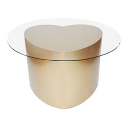 Bahia Style - LOVE Cocktail Table, Champagne Gold - Love yourself. Love what you do. Love others. That simple.