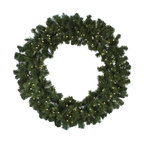 "Seasonal Source - 48"" Pre-Lit Oregon Fir LED Wreath, 150 Warm White LED Lights - Our 48"" diameter commercial quality holiday wreath is full and luxurious.  Each wreath is pre-decorated with 150 LED lights."
