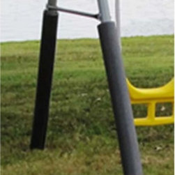 Flexible Flyer - Flexible Flyer Foam Swing Set Leg Covers Multicolor - 49704T - Shop for Swings Slides and Gyms from Hayneedle.com! Preserve playtime with these Flexible Flyer Foam Swing Set Leg Covers. Crafted with high-density safety foam in a deep charcoal grey hue these covers slip easily onto swing set legs to protect them from harsh weather and general wear. Choose a set of four or six of these all-weather covers.About Flexible FlyerSince 1889 Flexible Flyer has been an icon in American childhoods. Flexible Flyer is the largest American manufacturer of consumer swing sets and hobby horses - all of which are made in the USA. Just as in years gone by Hobby Horses Swing Sets and NEW Teeter Twirl outdoor products offer a high-quality traditional toy experience for today's children encouraging both exercise and use of the imagination. Hours of fun are to be had when these products are brought into play and you can rest assured you've purchased a top-quality American-made classic.