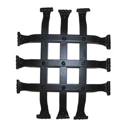 Flat Bar Speakeasy Door Grille - This Flat Bar Speakeasy Door Grille is designed to be installed on doors with openings for viewing purposes, or can be mounted alone as decoration.