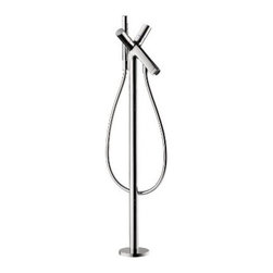 Axor - Axor | Starck Free Standing Double-Handle Tub Filler with Hand-Held Shower - Design by Philippe Starck.