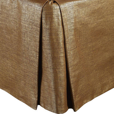 "Mystic Valley - Mystic Valley Traders Radiance Copper - Twin Bed Skirt - The Radiance Copper bed skirt is fashioned from the opulent Glimmer Copper fabric; it is lined and tailored with a 16"" drop."