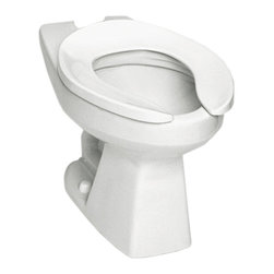 Toto - Toto CT705ELNG#01 Cotton White Flushometer HET Bowl, 1.28 GPF ADA with SanaGloss - The Commercial collection by Toto gives an automatic, elegant, elongated look to any commercial applications.