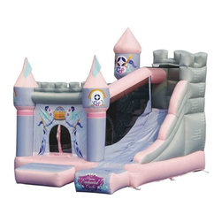 Kidwise - Kidwise Princess Enchanted Castle with Slide Bounce House - KWSS-PR-205 - Shop for Tents and Playhouses from Hayneedle.com! The Kidwise Princess Enchanted Castle with Slide Bounce House is one present that will put a twinkle in your princess's eye. Constructed of durable oxford nylon this inflatable bounce castle can support four kids or up to 400 pounds so there's room for the whole neighborhood to play. Complete with a safe entry way it's got it's very own castle door. The side tower slide is accessed from the interior bounce area which reduces the amount of debris inside. This child's dream-come-true comes complete with everything you'll need for set up and maintenance so it'll answer a few prayers of your own too.About Kidwise ProductsThis item is made by Kidwise Outdoors a company whose focus is safe fun excitement for kids. Kidwise strives to promote safe play for kids of all ages through outside activities. Their line of products includes swingsets trampolines inflatable bouncers bikes sport goals and many other items to choose from. Kidwise guarantees all of their products against defects. Like Hayneedle their goal is 100% satisfaction from customers. Their product lines focus on kid-friendly items that are fun to play with and stimulate balance and a healthy lifestyle for kids.