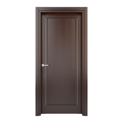 Solid Wood Interior Door – Color: Wenge; Model: W26s, 23x80 - Doors are made of solid wood construction covered with textured laminate, Frames are produced using solid wood covered in laminate. Moldings are plywood covered in laminate.