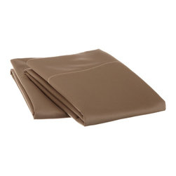 1500 Thread Count Cotton King Taupe Solid Pillowcase Set - 1500 Thread Count King Taupe Solid Pillowcase Set 100% Cotton
