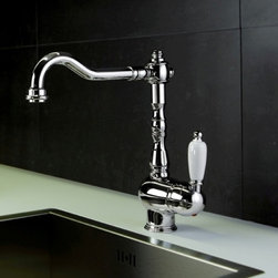 WS Bath Collections - Melissa Kitchen Sink Faucet w Swivel Spout (C - Finish: ChromeWall-mount. Swivel Spout. Made in Italy. Finish/Color: Polished Chrome. Height: 10.6 inches. Spout Height: 9.1 inches