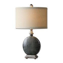 Uttermost - Uttermost 27470-1 Salinger Table Lamp with Cylinder Shade - Features: