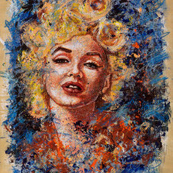 "Blonde Bombshell (Original) by Chris Shockley - 16"" X 20"" Original mixed media painting."