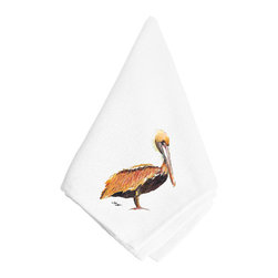 Caroline's Treasures - Bright Pelican Napkin 8344NAP - Bright Pelican Napkin 8344NAP Dinner Napkin - 100% polyester - wash, dry and lay flat.  No ironing needed.  20 inch by 20 inch