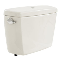 Toto - Toto ST706B#01 Cotton White Carusoe 2-Piece Toilet Tank, Bolt Down Lid, 1.6 GPF - The Carusoe collection from Toto offers a classically styled look that will complement any home decor.