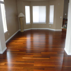 Ipe Hardwood Flooring - Ipe hardwood flooring is incredibly durable. Its dense cell structure serves as a natural deterrent to insects, decay, and molds, ensuring that an Ipe floor will last quite a while. Because of this natural resilience Ipe is often the first choice for decking because of its almost unparalleled ability to stand up to the elements. More than just durable, Ipe wood is also very pleasing to the eye. With a Class A fire rating, Ipe hardwood occupies the same class of fire-retardant materials as steel. For durability, safety, and beauty, Ipe floors make an excellent choice.