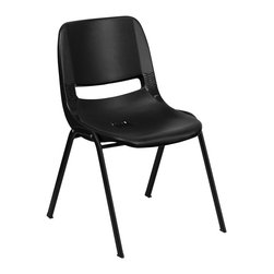 Flash Furniture - Flash Furniture Stack Chairs Plastic Student Stack Chairs X-GG-KCALB-RDP-41-TUR - We consider this student stack chair to be the premier stack chair - essential for every school and classroom setting. This ergonomic stack chair provides a body molded, high impact plastic shell set upon a black powder coated frame. The comfort-formed back and contoured seat with waterfall front will give you complete comfort and lasting durability. [RUT-14-PDR-BLACK-GG]