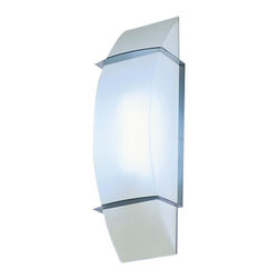 "Estiluz - Estiluz A-8081 wall sconce - The A-8081 wall sconce from Estiluz has been designed by Leonardo Marelli. This wall mounted luminaire is great for halogen or fluorescent lighting. The A-8081 is composed of a metallic nickel finish and white opal satin glass The A-8081 wall sconce offers an elegant design as well as a contemporary approach to lighting, which is sure to brilliantly illuminate any atmosphere    Product Details:  The A-8081 wall sconce from Estiluz has been designed by Leonardo Marelli. This wall mounted luminaire is great for halogen or fluorescent lighting. The A-8081 is composed of a metallic nickel finish and white opal satin glass The A-8081 wall sconce offers an elegant design as well as a contemporary approach to lighting, which is sure to brilliantly illuminate any atmosphere    Details:       Manufacturer:     Estiluz      Designer:    Leonardo Marelli      Made in:    Spain      Dimensions:     Height: 13 7/8"" ( 35.4 cm) Width: 4 7/8"" (12.4 cm)      Light bulb:     1 X 75W halogen or 1 X 13W fluorescent      Material:     Metal, Glass"