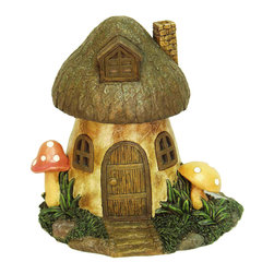 Echo Valley - Solar Mushroom Home - It's been said that fairy houses originated around 100 years ago. They were designed to attract fairies and gnomes that would provide magical protection for farmers' livestock and children through the harsh winters.