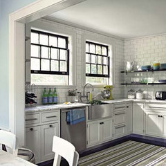 black painted window kitchen