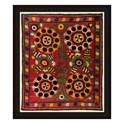 Wendover Art - Uzbek Silk VI - This striking Giclee on Paper print adds subtle style to any space. A beautifully framed piece of art has a huge impact on a room for relatively low cost! Many designers and home owners select art first and plan decor around it or you can add artwork to your space as a finishing touch. This spectacular print really draws your eye and can create a focal point over a piece of furniture or above a mantel. In a large room or on a large wall, combine multiple works of art to in the same style or color range to create a cohesive and stylish space! This striking image is beautifully framed in rubbed espresso with gold.