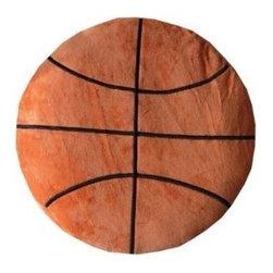 Basketball Plush Pillow - Plush Novelty Pillow