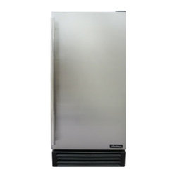 Vinotemp - VT-REFOUT15 3.18 Cu. Ft. Outdoor Refrigerator With Internal Light  Front Exhaust - Store your beverages in this sleek 31 Cu Ft Outdoor Refrigerator with a black cabinet body stainless steel door and a full-length door handle