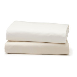 "Coyuchi Organic Cotton 300 Percale Fitted Sheet Queen White - The ultimate percale. Our 300 Percale Sheets are woven from GOTS Certified organic cotton to a 300-thread count for extra softness and a cool, crisp hand. Pure and simple luxury, perfect for layering and mixing and matching with other patterns. The flat sheets and pillowcases feature a 7"" attached hem and the fitted sheet has a 15"" pocket and full elastic.  Flat and fitted sheets available in Queen and King sizes, pillowcases in Standard and King.    Dimensions: Flat Sheet - Full/Queen 90""W x 106""L; King 108""W x 106""L  Fitted Sheet – Queen 60""W x 80""L; King 78""W x 80""L  Pillowcase – Standard 20""H x 32""L; King 20""H x 40""L  Care: All of our cotton & linen products are machine washable. We recommend using warm water and non-phosphate soap in the washing cycle, with a cool, tumble or line dry. The use of bleaching agents may diminish the brilliance and depth of the colors, so we recommend not using any whiteners."