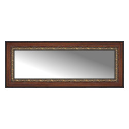 """Posters 2 Prints, LLC - 42"""" x 17"""" Malabar Walnut Custom Framed Mirror - 42"""" x 17"""" Custom Framed Mirror made by Posters 2 Prints. Standard glass with unrivaled selection of crafted mirror frames.  Protected with category II safety backing to keep glass fragments together should the mirror be accidentally broken.  Safe arrival guaranteed.  Made in the United States of America"""