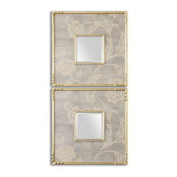 Uttermost - Evelyn Square Mirrors Set of 2 - Evelyn Square Mirrors Set of 2