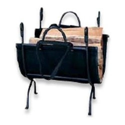 "Blue Rhino - UF 18"" Log Holder Wrought Iron - Uniflame W-1866 18"" High Deluxe Wrought Iron Log Holder ...No hearth is complete without a log rack to keep firewood close at hand. If you have a hearth with a traditional feel  this is the perfect choice for a sturdy  long-lasting hearth accessory.   18"" x 23""  This item cannot be shipped to APO/FPO addresses. Please accept our apologies."