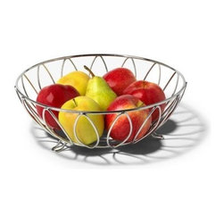 Spectrum Diversified Designs - Leaf Fruit Bowl - Display your fruits and vegetables in style with the Leaf Fruit Bowl from Spectrum. The smart open design lets air circulate, allowing your fruits and vegetables to evenly ripen. This bowl is also great for serving rolls, muffins and pastries. Made of sturdy steel, the decorative leaf motif will add a sophisticated accent to your home