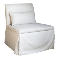 ecofirstart - Salon Slipper Chair - Whether you're approaching from the side or sliding straight back, this inviting slipper chair is ready to welcome you. Its generous scale guarantees you'll be happy to stay awhile.